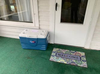 My cooler is on the porch today because it is raining